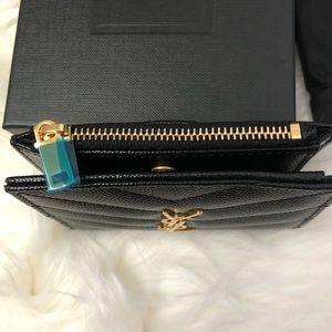 Saint Laurent Bags - Saint Laurent monogram zipper card case wallet New